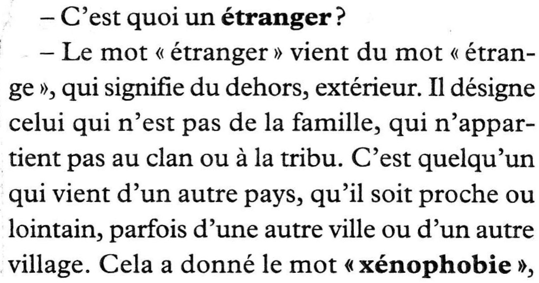 Texte : Immigration