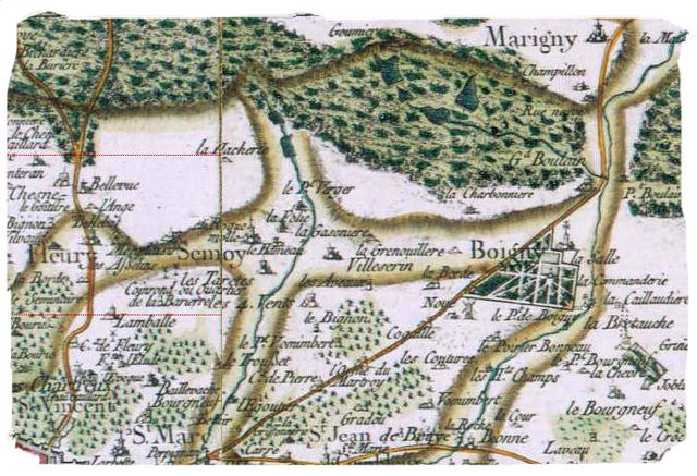 carte cassini Forêt