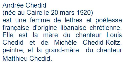texte Andrée Chedid